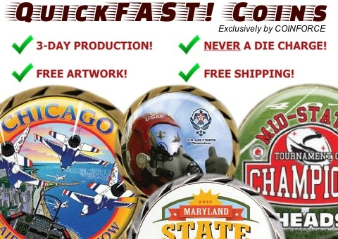 QuickFAST! Coins, Quick Fast, Challenge Coins, Military Coins